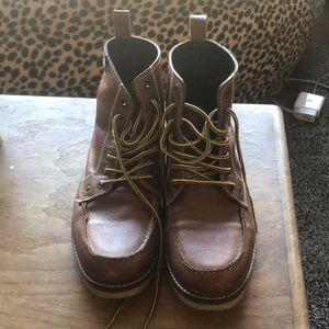Crevo Men's 11 Moc Toe Boots